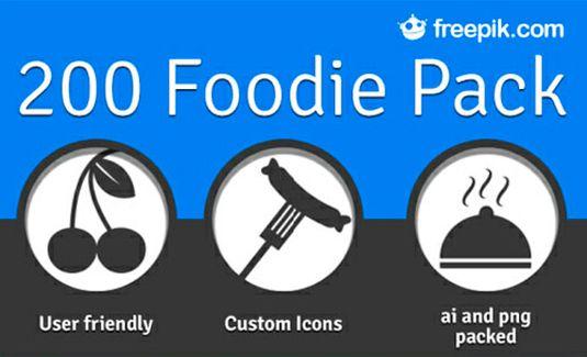 descarga iconos gratis sobre comida