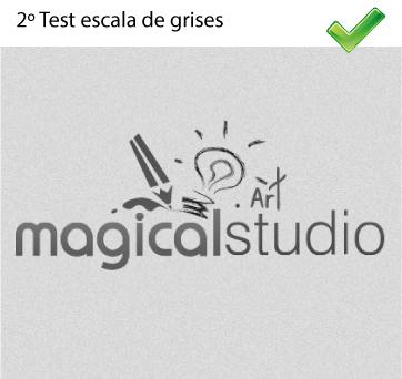 Test de logo en escala de grises