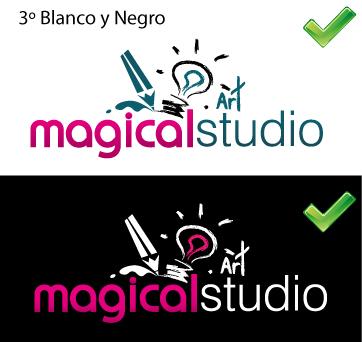 test de blanco y negro para logos