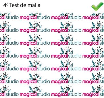 Test de malla para logos