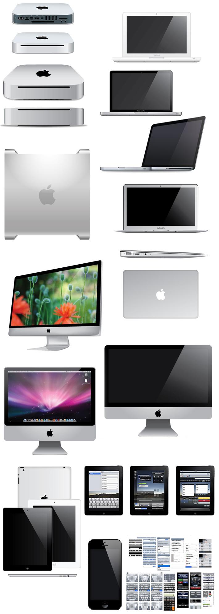 conjunto de archivos editables de Apple todos los productos